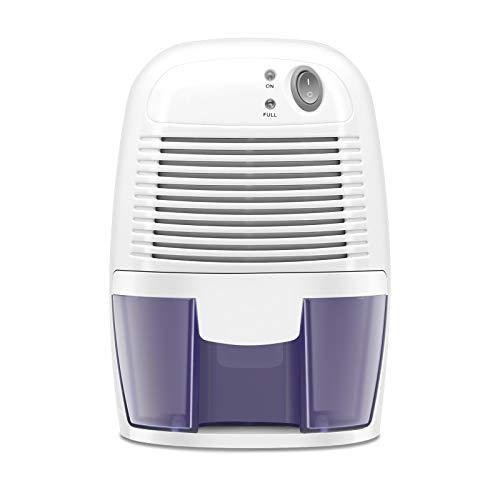 Beyxdu Electric Mini Dehumidifier, Compact 500ml (17 oz) Capacity, Portable Quiet Small Dehumidifiers Use for Home, Bathroom, Bedroom, Kitchen, Basements, Wardrobe Closet, Office, RV