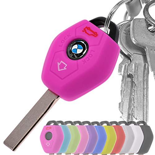 Auto Schlüssel Hülle Silikon Schutz Cover Pink für BMW E46 E83 E52 E85 E86 E39 E61 E60 E53