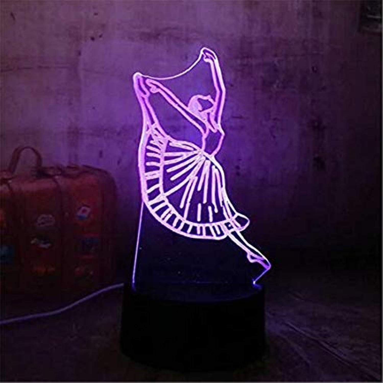 Led Lichter Edison Lichter Dacing Ballett Geschenk Led Beleuchtung Romantische Acryl 3D Rgb Nachtlichter Usb Schreibtischlampe Room Decor Mdchen Geschenk