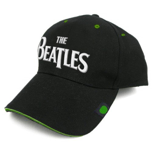The Beatles Drop T Name Black Green Apple Logo Baseball Cap Hat Official