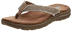 in budget affordable Men's Slippers Skechers USA Bosnia, Tan, 11 M US