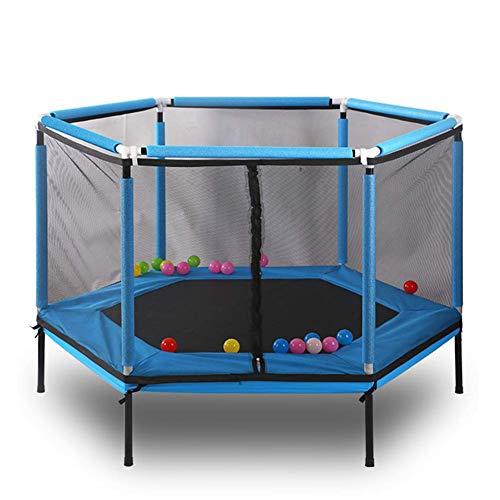 SFSGH Juego de trampolín Hexagonal para Exteriores para niños y Adultos Recinto de Seguridad Rebote de Red Reboteador para Exteriores 100 kg máx.