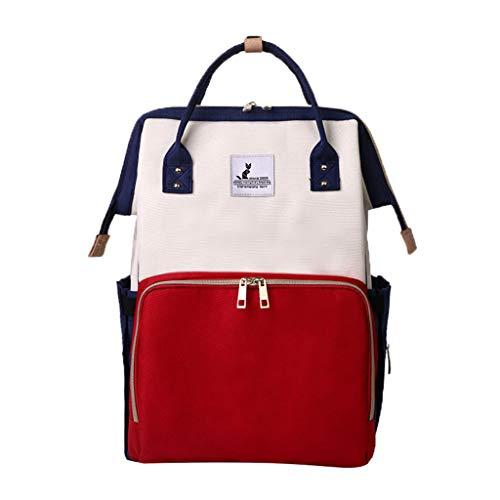 Snakell Baby Wickelrucksack Wickeltasche mit Wickelunterlage Einfarbige Nähte Handtasche Multifunktional Oxford Große Kapazität Babyrucksack Kein Formaldehyd Reiserucksack für Unterwegs