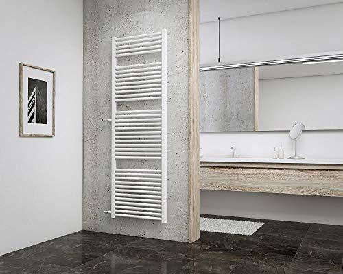 Schulte EP1690050 04 Badheizkörper München Spezial mit seitlichem Anschluss, 177 x 60 cm, Nabenabstand 90 cm, 900 Watt Leistung, alpin-weiß, Design-Heizkörper für Zweirohr-System