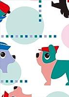 igsticker ポスター ウォールステッカー シール式ステッカー 飾り 841×1189㎜ A0 写真 フォト 壁 インテリア おしゃれ 剥がせる wall sticker poster 003815 ラブリー 犬 動物 キャラクター
