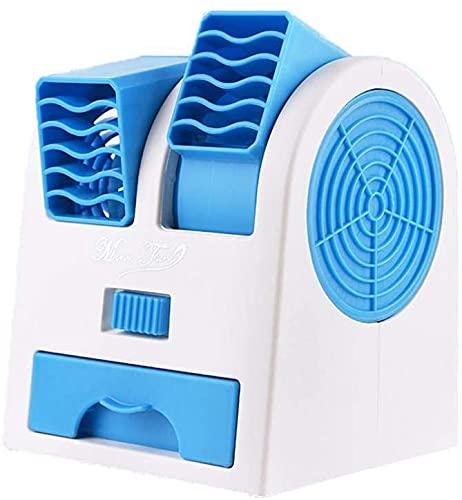 HIGHKAS Aire Acondicionado portátil, Mini Enfriador de Aire 3 en 1, refrigeración, humidificación y purificación de Aire, Ventilador Enfriador de Escritorio a batería o USB para el hogar, la Oficina