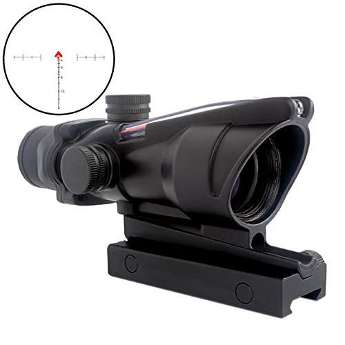 CRUSHUNT 4x32 Scope Red Fiber Scope Glass Etched Reticle Real Fiber Optics Optical Scope