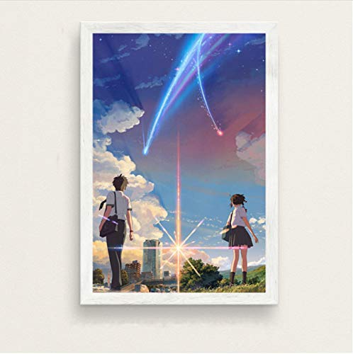 Fymmm`shop Su Nombre Kimi No Na WA Hot Japan Movie Anime Art Silk Painting Canvas Wall Poster Modern Fashion Home Decor40x60cm