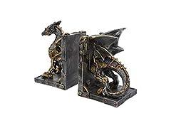 Nemesis Now Dracus Machina Bookends 27cm, Bronze #1