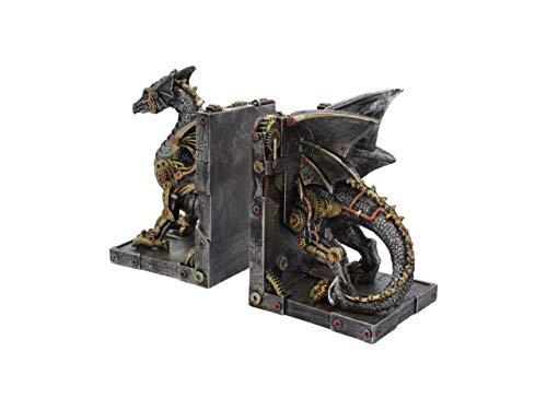 Nemesis Now Dracus Machina Bookends 27cm, Bronze steampunk buy now online