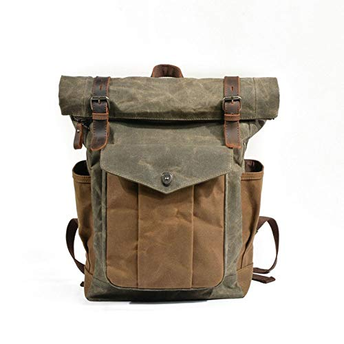 Lpiotyubeib Mochila, Capacidad turgentes, bolsa de viaje, bolsa de lona impermeable Estudiante Batik Mochila grande retro escuela grande medio de la capacidad de los hombres, Viajes Mochila, Mochila p