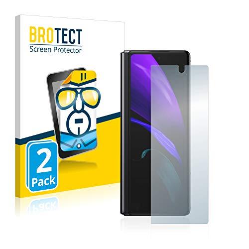 BROTECT Protector Pantalla Compatible con Samsung Galaxy Z Fold 2 Protector Transparente (2 Unidades) Anti-Huellas