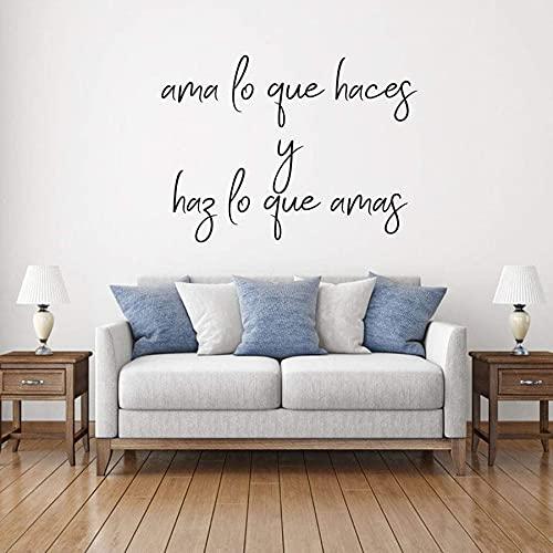 WERWN Pegatinas de Pared con Cita de España sobre el Amor, Pegatinas de Vinilo para Pared, diseño de Interiores de casa, Letras temáticas Elegantes, Mural artístico Decorativo
