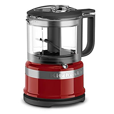 KitchenAid KFC3516ER 3.5 Cup Mini Food Processor, Empire Red (Renewed)
