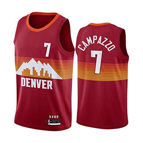 TGSCX Jersey de Baloncesto de los Hombres NBA Denver Nuggets 7# Facundo Campazzo Camisetas Transpirable Deportes y Ropa de Ocio Regalos para los fanáticos,S