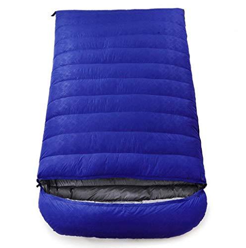 JBHURF Sac de Couchage pour Camping en Plein air Quatre Saisons Enveloppe pour Alpinisme Double Sac de Couchage Ultra-léger (Capacité : 4.5kg, Couleur : Bleu)