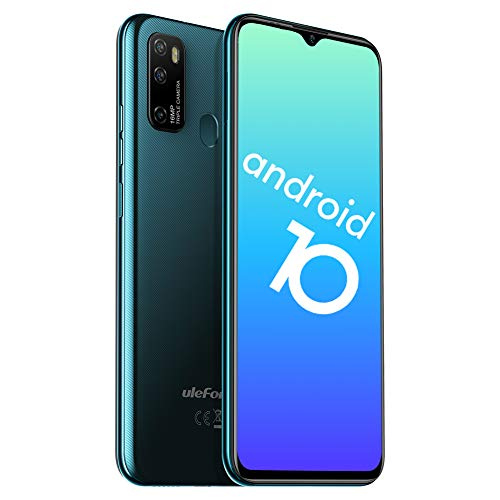 Telephone Portable Android 10 Octa-Core 4Go+64Go, 4G Smartphone Debloqué Pas Cher, Ecran 6,52 Pouces, 16MP AI Triple Rear Caméras Ulefone Note 9 P, Fingerprint, 4500mAh Batterie, Dual Nano SIM + TF