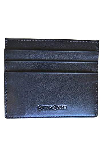 Samsonite, cartera para tarjetas de crédito de piel plana, línea Success, color azul