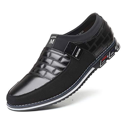 Zapatos de Cuero Hombre, Oxford Brogue Vestir Derby Mocasines Informal Negocios Boda...