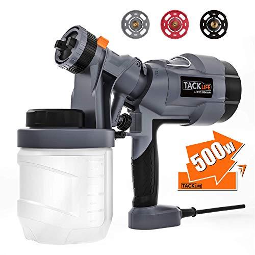 Paint Sprayer, TACKLIFE 500 Watt Spray Gun, Electric Spray Gun with 3 Size...