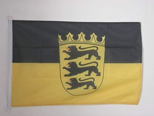 AOOEDM Baden-Württemberg Flagge 3 'x 5' Außenanwendung - Deutschland - Bundesland Baden-Württemberg Flaggen 90 x 150 cm - Banner 3x5 ft Gestricktes Polyester mit Ringen