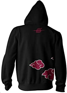 Naruto Shippuden Adult Unisex Anti-Leaf Clouds Full Zip Fleece Hoodie