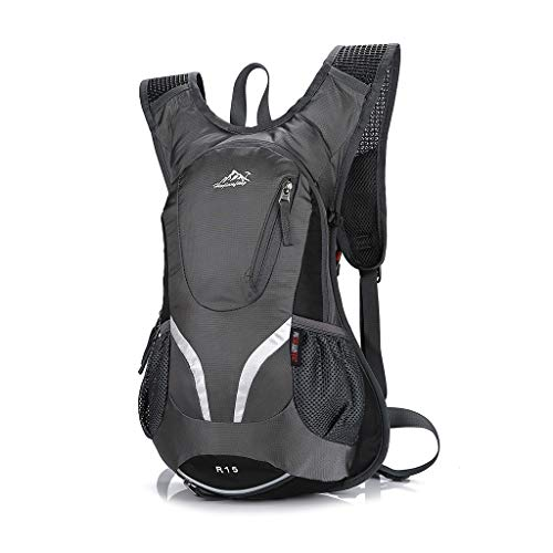 Bou 15L Cycling Backpack with Helmet Holder Lightweight Sports Bag MTB Mountain Bicycle Rucksack Outdoor Travel Climbing Camping Sports Hiking Walking Pack Bag