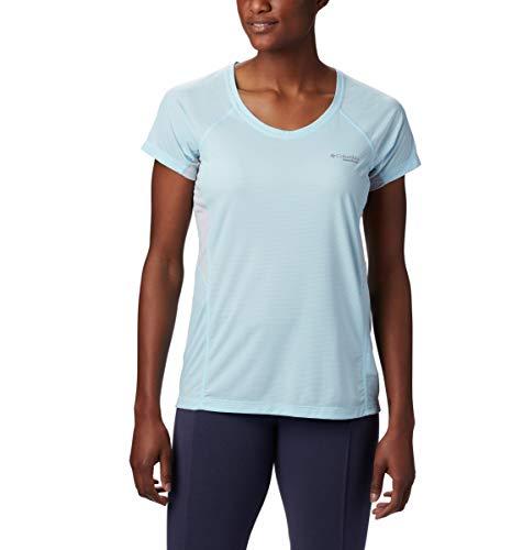 Columbia Titan Ultra II Short Sleeve Femme T-Shirt, Blue Oasis, Cir, FR : M (Taille Fabricant : M)
