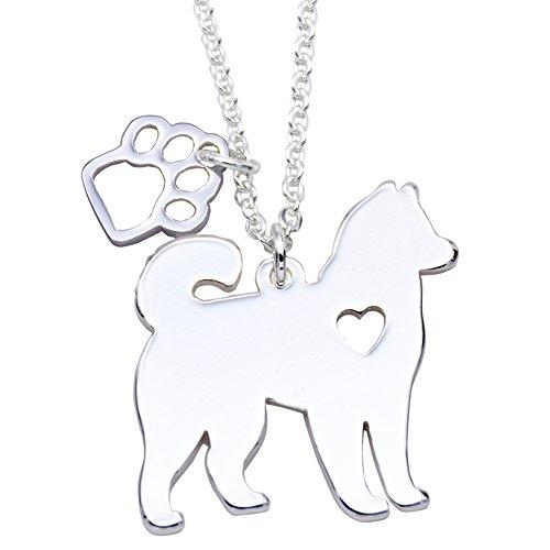 Yorkie Labrador Pitbull Husky Alaskan Akita Boxer Corgi Bassotto tedesco pastore Golden Retriever Pet Dog Doggy ciondolo collana regalo
