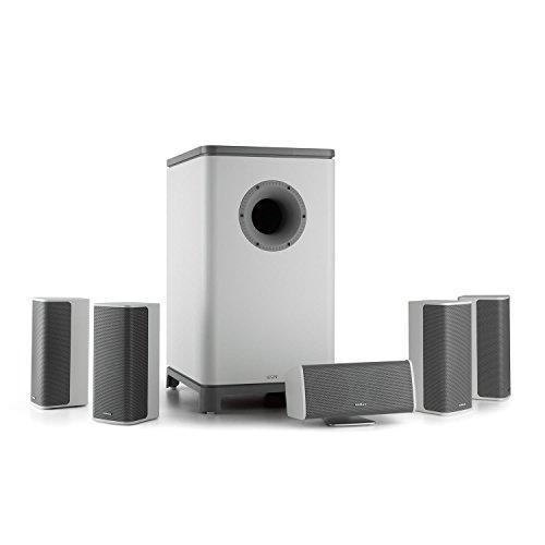 NUMAN Ambience - 5.1-Surround-Sound-System, Heimkinosystem, Stereo Lautsprechersystem, Aktiv-Mono-Subwoofer, Satellitenlautsprecher, Front Bassreflexport, max. 120 Watt, weiß