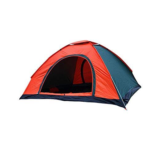 thematys Outdoorzelt leichtes Pop Up Wurfzelt für 1 bis 2 Personen Zelt Camping Festival Sekundenzelt mit Tragetasche (Orange, 1-2 Personen)