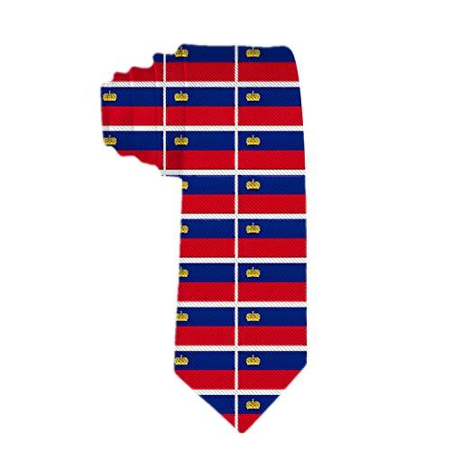 YaYaTop Herren Liechtenstein Flagge Krawatte Polyester Stoff Krawatte Gewebte Jacquard Krawatte Mens Novetly Geschenk