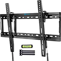 Pipishell Tilt TV Wall Mount Bracket Low Profile for Most 37-70 Inch LED LCD OLED Plasma Flat Curved Screen TVs
