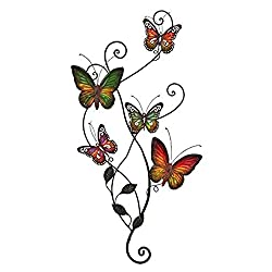 Bellaa 20186 Metal Wall Decor Butterfly Sculpture 29 x15 inch (Multi 1, Large)