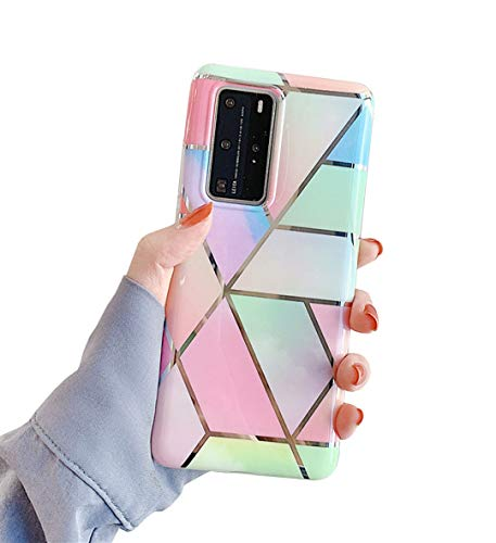 Galaxy S20 Plus Case,Duolaa Samsung S20+ Protective Cover Phone Case for Women Girls Ultra Thin Slim Fit Shockproof Soft Silicone Rubber TPU Bumper Case for Samsung Galaxy S20 Plus 5G-Rainbow