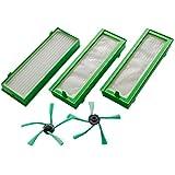 Fransande - Set di accessori per robot aspirapolvere Vorwerk Folletto VR200 e VR300-3 filtri HEPA e spazzole laterali