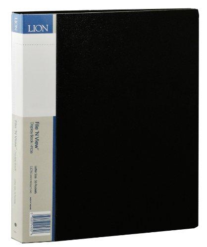 Lion File-N-View Presentation Display Book, 36-Pocket, Black, 1 Book (41036-BK)