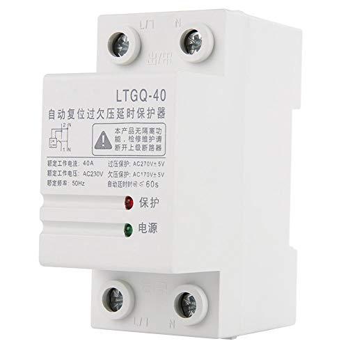 Spannungsüberwachungsrelais, 230V 2P 40A Phasenüberwachungsrelais Überspannungsschutz