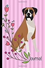 Journal: Anxiety Journal and Coloring Book 6x9 90 Pages Positive Affirmations Mandala Coloring Book Boxer Dog Pink
