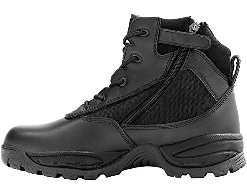 "Maelstrom Men's Patrol Waterproof Tactical Combat Work Boots with Zipper, Style #P1360Z WP, Black, 6"", Size 7M"