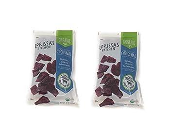 Lorissas Kitchen Organic Grass Fed Premium Steak Strips Original - Pack of 2 Bags - 12 oz Per Bag - Gluten Free  2 Bags 24 oz Total