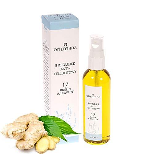 Orientana - BIO-ÖL gegen Cellulite 17 Ayurvedische Pflanzen - 100% Natürliches und Veganes - regt die durchblutung in der Haut an und stimuliert sie fettverbrennung, 100 ml