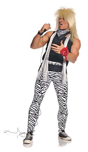 Men's XXL Plus Size Zebra Print 80s Rocker Costume