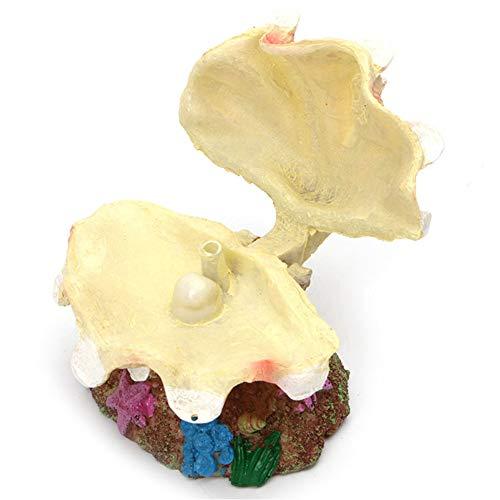 Metermall Home Simuleer luchtbel mantel Shell ornamenten Beluchtingspomp Aansluitbaar voor Aquarium Fish Bowl decoratie