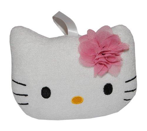 alles-meine.de GmbH Badeschwamm / Plüschtier - Hello Kitty - Schwamm mit Stoff bezogen - Baby Katze Badespielzeug Geschenkset Duschgel