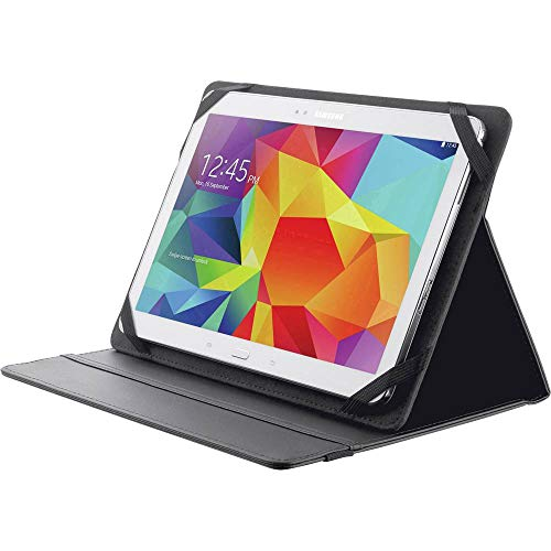"Trust Primo Custodia Folio con Supporto per Tablet da 10"" (fino a 266 x 190 mm), Nero"