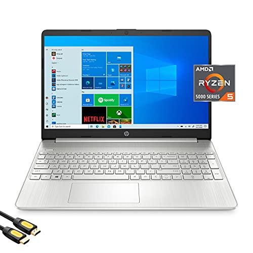 HP 15.6'' FHD Micro-Edge Laptop, AMD Hexa-Core Ryzen 5 5500U (Beat i5-10500)...