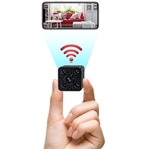 Camara Espia Oculta WiFi Mini Camara Vigilancia Inalámbrica TANGMI 1080P HD Micro Cámara de Seguridad con IR Visión Nocturna Detector de Movimiento 140° Ángulo de Visión