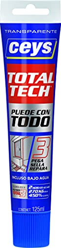 ceys CE507242 Total Tech Transparente Tubo 125ML, 0 W, 0 V, Azul