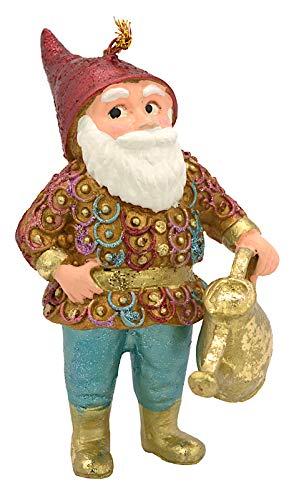 ecosoul Gartenzwerg Zwerg Weihnachten Baumschmuck Figur Deko Hänger Christbaumschmuck 11 cm (mit Giesskanne)